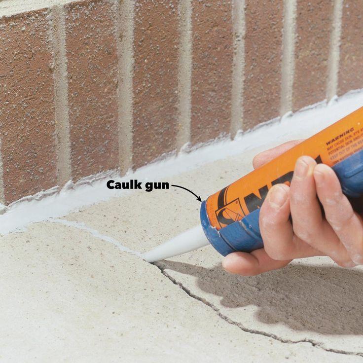 Caulking Concrete Cracks Home repair, Diy home repair