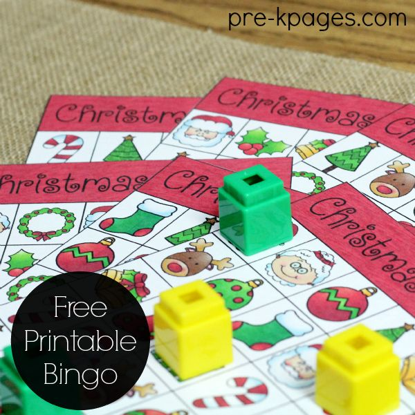 Printable Christmas Bingo - Pre-K Pages