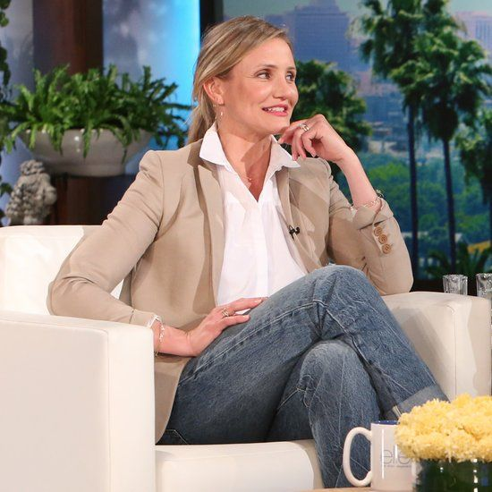 Cameron Diaz on The Ellen DeGeneres Show May 2016