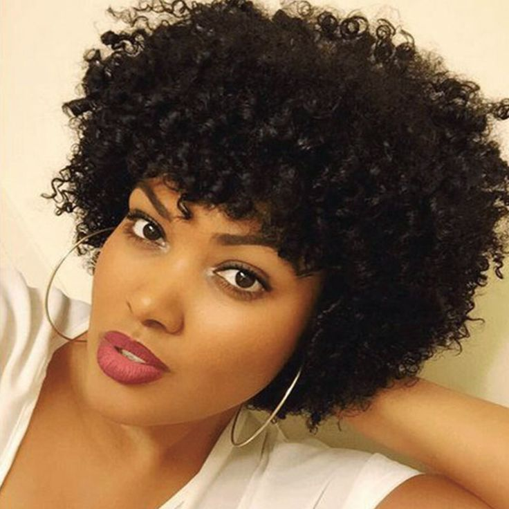 短い黒アフロカーリーかつら耐熱かつら合成短い髪黒人女性セクシーな女性レディースかつら偽の髪片