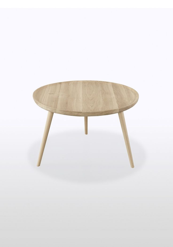 Decoration, Minimalist Round Wooden Coffee Table Designs With Three Legs  For Cool Modern Living Room: Modest Simple Coffee Table For Modern  Scandinavian ...
