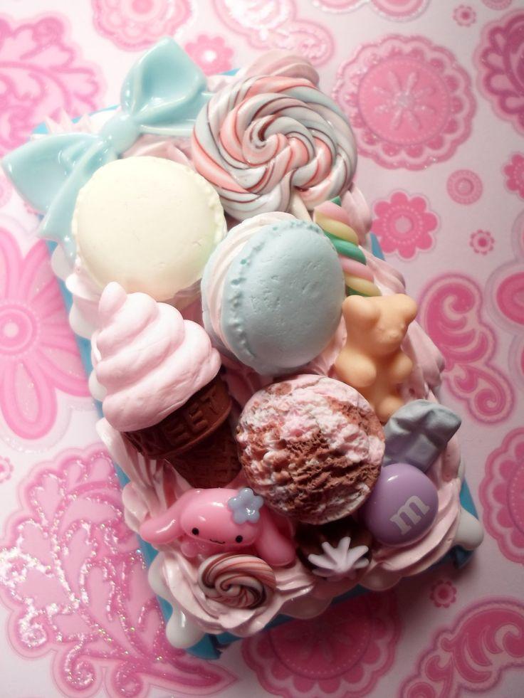 Cinnamaroll Pastel Ice Cream Party  Decoden Case