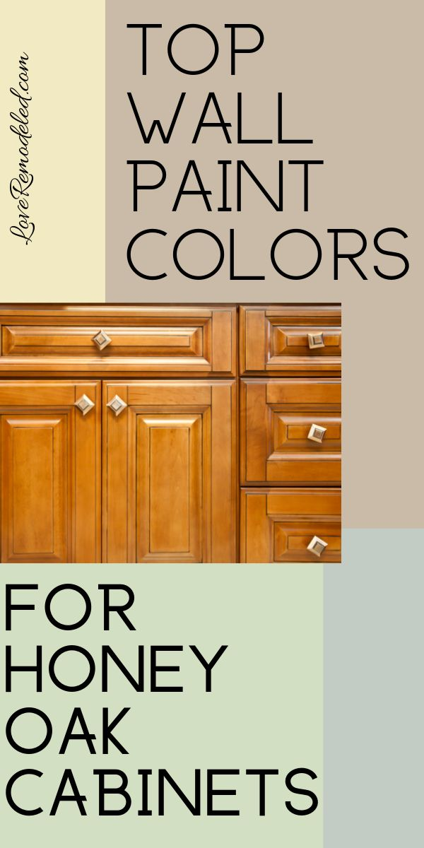 Top Wall Colors for Honey Oak Cabinets #Paint colors for home
