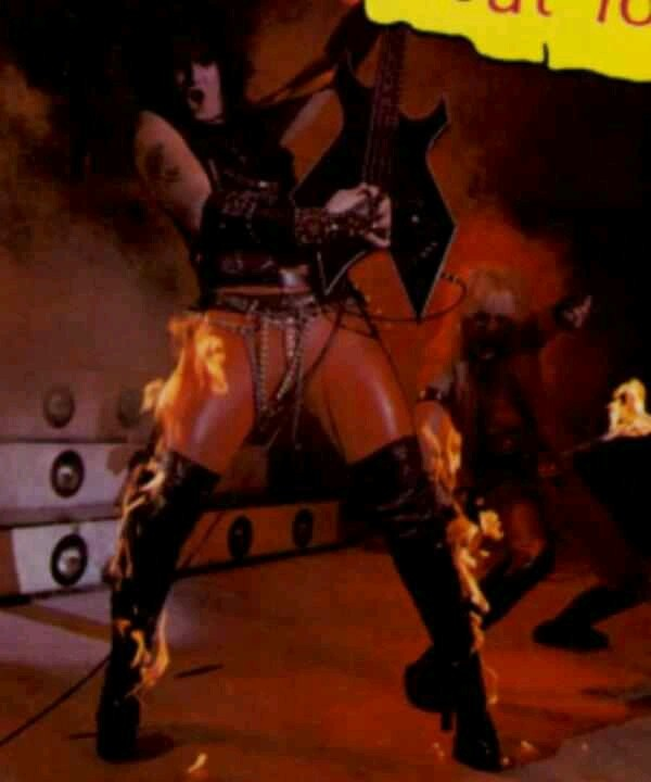 Nikki Sixx Playing With His Pants On Fire Music Nikki
