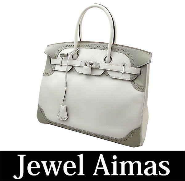 HERMES Birkin ghillie white pearl grey silver metal fittings ヴォースイフトハンドバッグ Birkin Ghillies White Pearl grey Swift leather Silver hardware