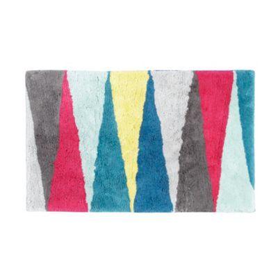 Ben de Lisi Home Designer multicoloured triangles bath mat- at Debenhams.com