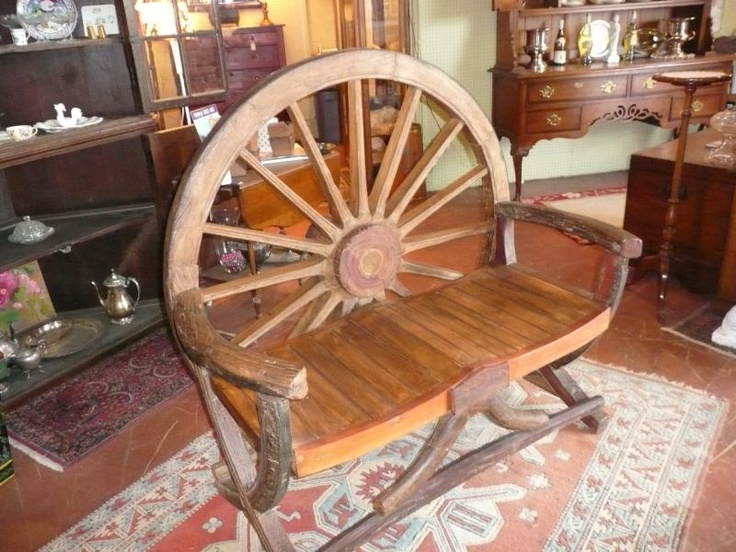 Made From Old Wagon Wheels, I Love It Maybe For A Front Porch?
