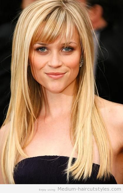 Medium Hairstyles with Bangs for Curly Hair