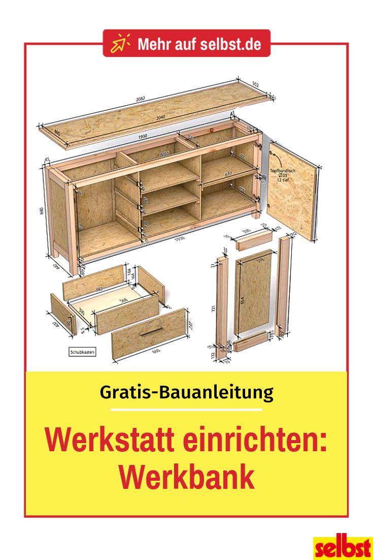Werkstatt einrichten Teil 2: Werkbank mit Stauraum selbst bauen