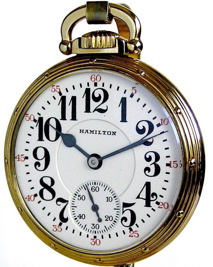 c.1956 : Hamilton 950B Railroad Pocket Watch - 23 Jewels - Circa 1956