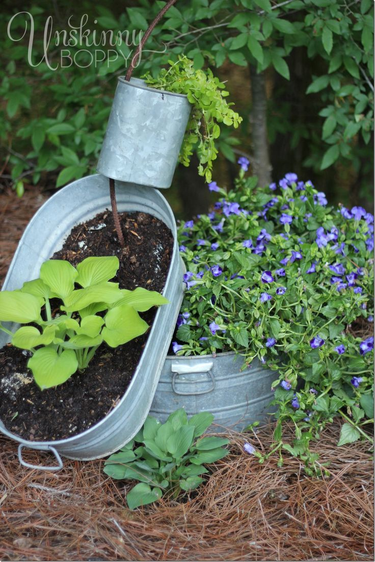 1000 ideas about galvanized planters on pinterest planters gardening and zinc planters - Galvanized containers for gardening ...