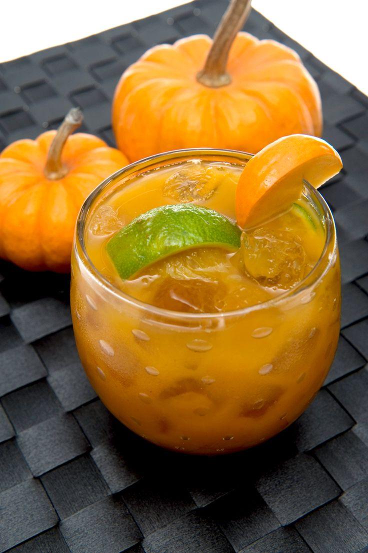 Pumpkin Caipirinha Cocktail || pumpkin cocktail drink recipe {can use white rum}