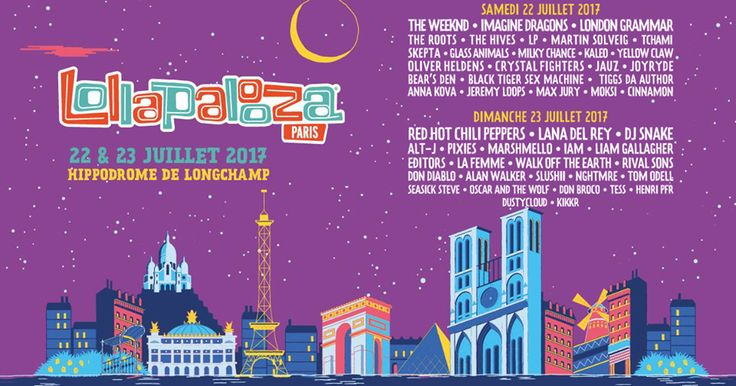 Lollapalooza Paris Lineup By Day Announced