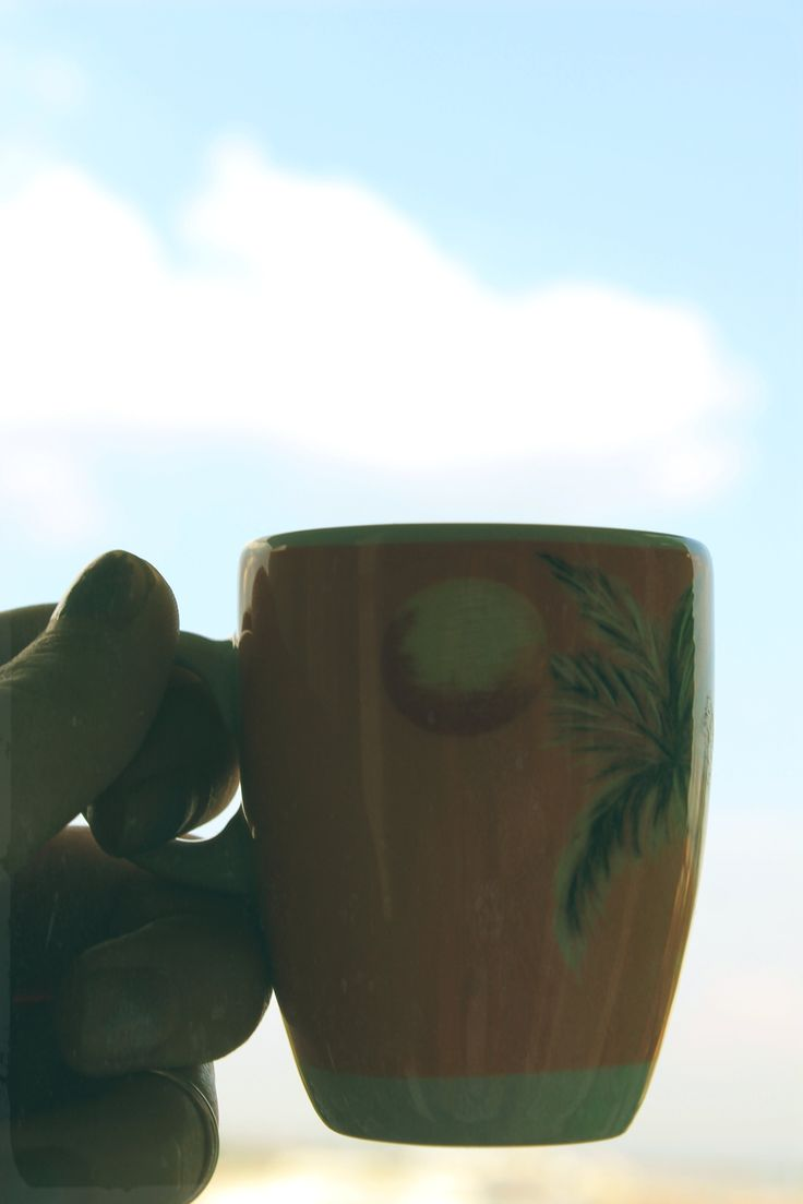 My morning with coffee