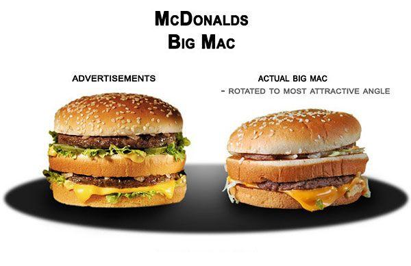 advertising vs. reality McDonalds fail | gesehen bei www.media-engine.de