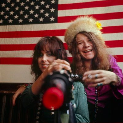 Grace Slick and Janis Joplin  Rebecca Littlefield