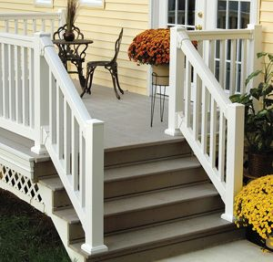 Railings white porch and porch railings on pinterest for Painting fypon