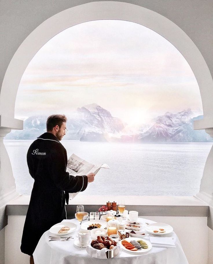 @simon_sava / Instagram is wearing Balmuir Embroided Portofino robe in black.