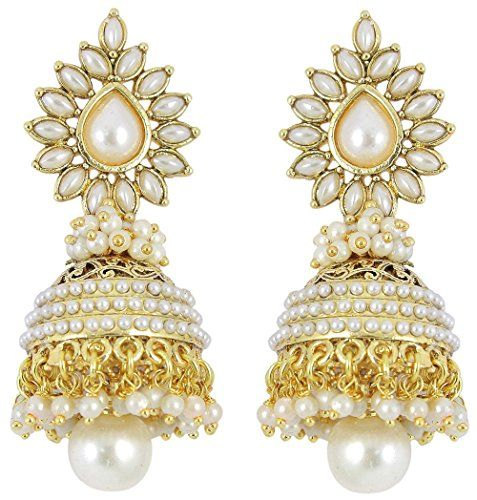 Beautiful White Stone Gold Plated White Pearls Indian Tri... https://www.amazon.com/dp/B01L59CDMW/ref=cm_sw_r_pi_dp_x_qncLybC710X00