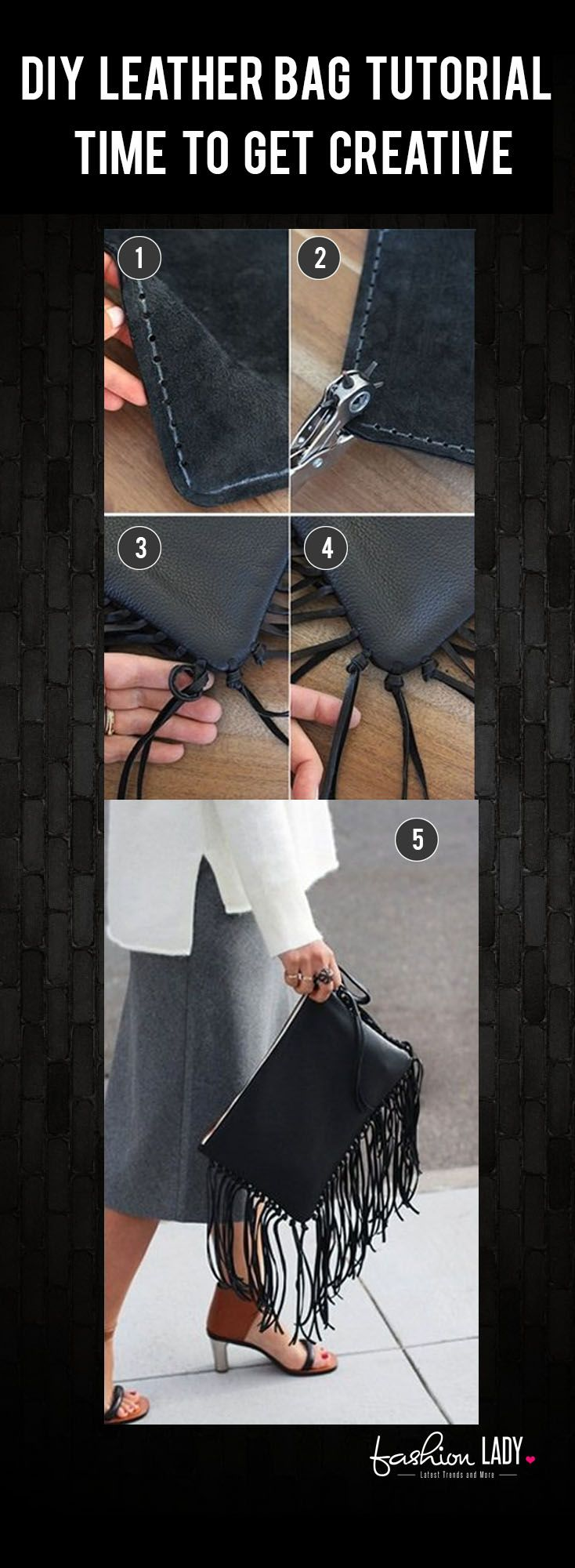 DIY Leather Bag Tutorial – Time To Get Creative