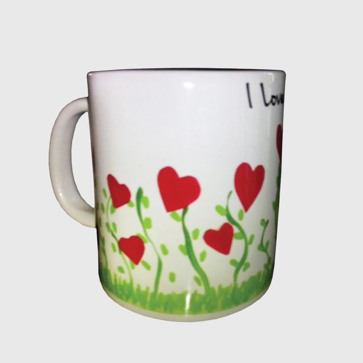 Personal Coffee mugs with heart and I Love You imprinted on it which reflect your style and make you feel more relaxed when you take a sip of your favourite beverage.