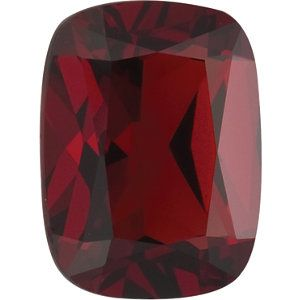 11x9mm Antique Cushion Faceted AA Mozambique Garnet