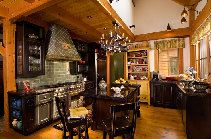 I like!Custom Kitchens, Decor Ideas, Traditional Kitchens,  Eating House'S, Black Cabinets, Dreams House, Chicago, Country Kitchens, Timber Frames