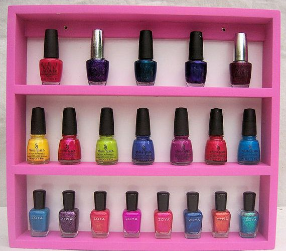 So cute for a teen girl's room! Nail Polish Rack Your Choice of Colors Holds 36 by WackyWhimsy