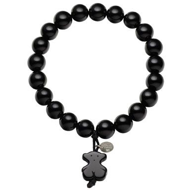 Black agate and sterling silver TOUS Color bracelet.