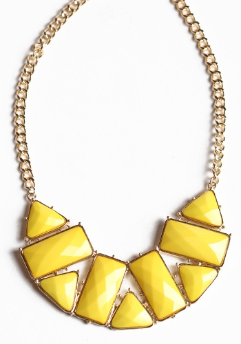 Yellow Marine Necklace