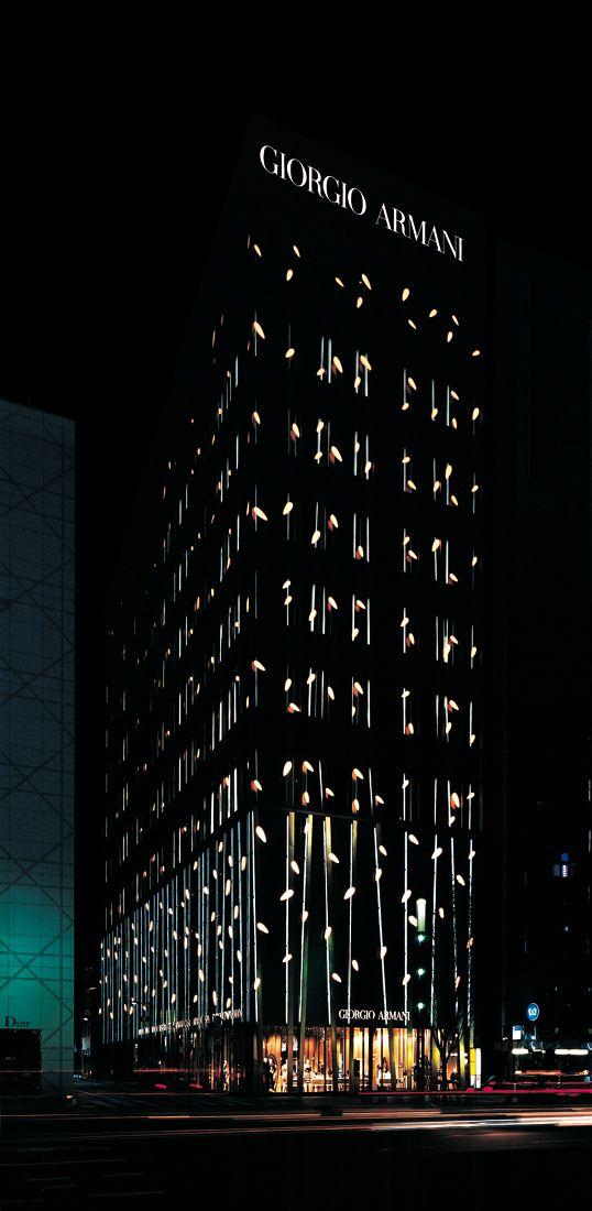 Armani Ginza Tower / Doriana e Massimiliano Fuksas Architectural design, interior design, #Architecture, House Architecture, #ModernHousePlans, Modern Architecture, Home design, Architecture and design, #lightingdesign, luxury homes