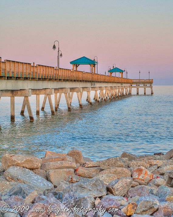 Buckroe Beach Fishing Pier  Hampton VA by BPaydenPhotography, $28.00