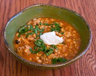 Crockpot Turkey White Bean Pumpkin Chili - Lunch | Foooood | Pinterest ...