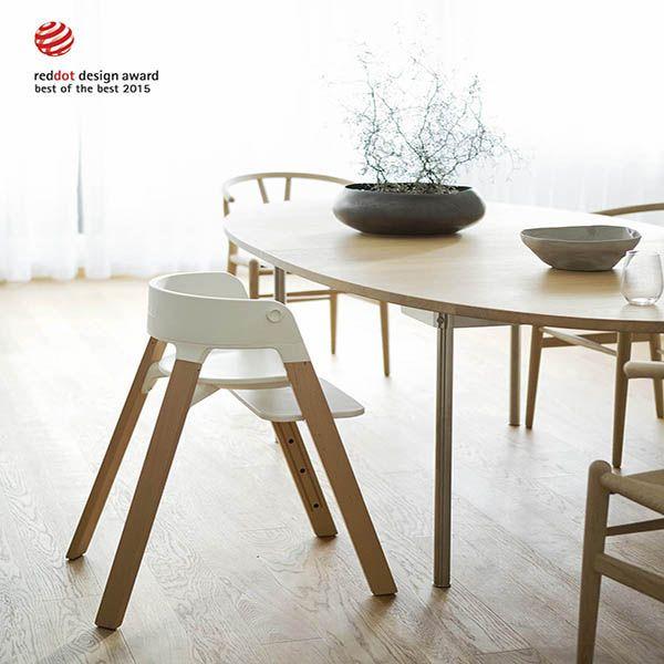 Silla para comer Stokke Steps by Baby Station. silla de comedor para bebés. asiento en madera. Decohunter. Encuentra dónde comprar este diseño y Producto en Colombia
