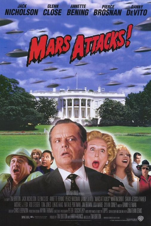 TB033. The Humans / Mars Attack! / Movie Poster by Bemis Balkind (1996) / #Movieposter / #Timburton