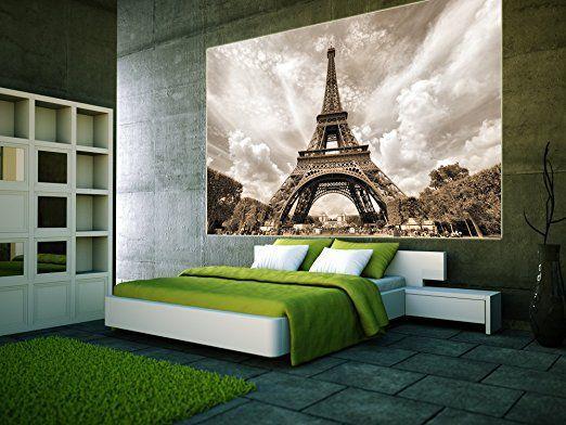 Papier peint Photos Qui Affiche la tour eiffel décoration romantique, XXL fotom
