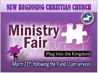"Deborah A.Culp: ""Debbie's World"": New Beginning Christian Church to Host Ministry Fa..."