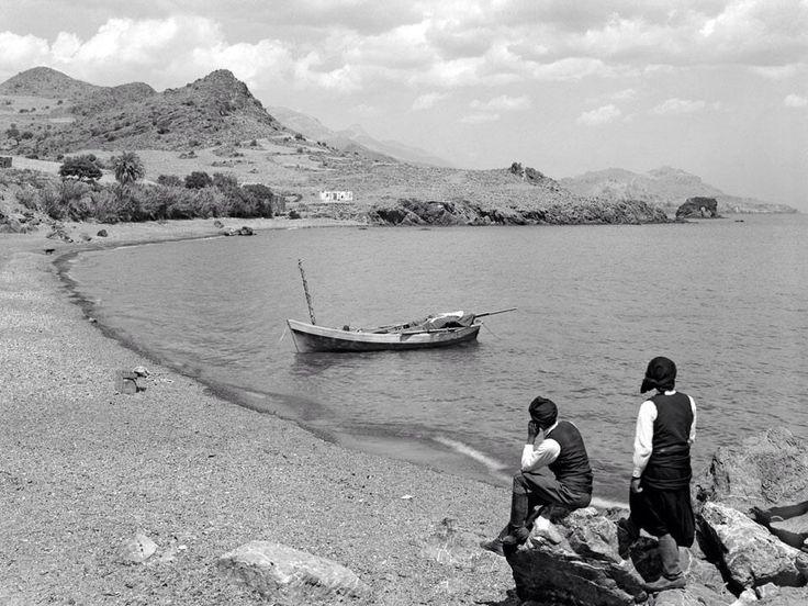 Ψαράδες στο ακρωτήρι Ψαμιδομούρη στην Κρήτη το 1939 φωτ,Νέλλη