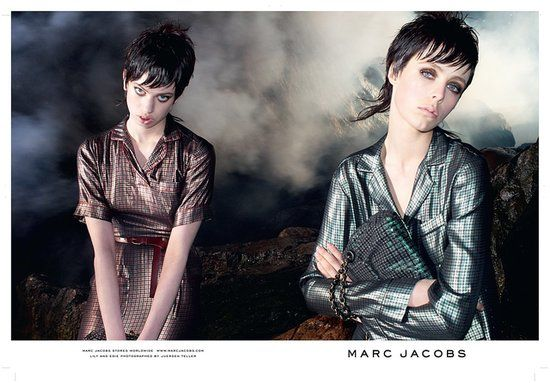 Marc Jacobs Fall 2013: Edie Campbell and Lily McMenamy photographed by Juergen Teller. Photo courtesy of Marc Jacobs