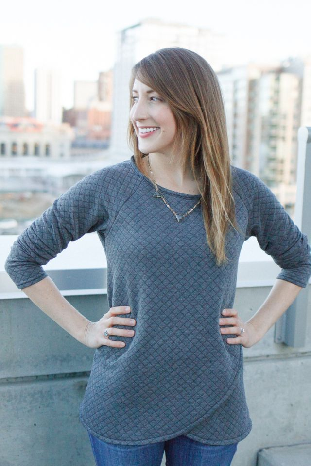 Blank Slate Patterns Tulip Top by Sewbon.com