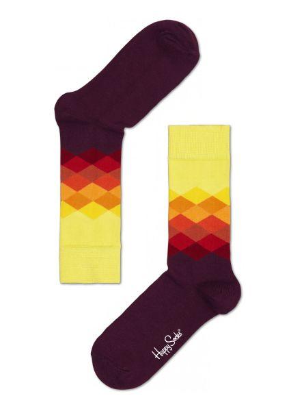 Purple faded Diamond cool socks for fun people at HappySocks.com