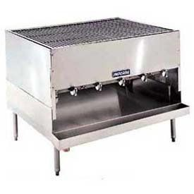 "Chicken Charbroiler, Countertop, Nat Gas, 48"", 250,000 Btu by Imperial Commercial Cooking Equipment. $4322.00. Chicken Charbroiler, countertop, gas, 48"" wide x 36"" deep, round steel rod grates, radiant ""H"" burners, stainless steel front and sides, 250,000 BTU 48.00 L. 36.00 W. 20.00 H."