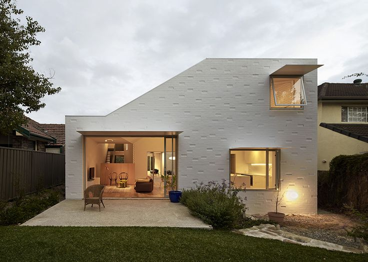 Bennett and Trimble | Riverview House; painted #brickwork, pattern, texture, facade #form