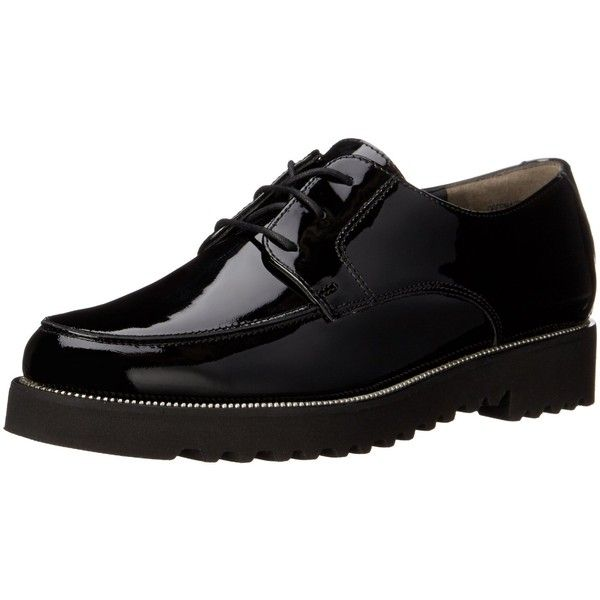 Paul Green Women's Dancer Oxford (925 RON) ❤ liked on Polyvore featuring shoes, oxfords, oxford shoes, real leather shoes, paul green, leather oxfords and arch support shoes