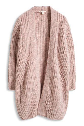 Esprit / Ripp-Strick Cardigan pink