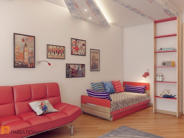 Красные акценты в детской  / kids room / kids room idea / kids room decor / kids room design / by Pevel Polinov Studio #design #interior #homedecor #interiordesign