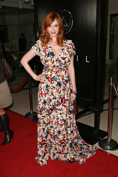 Christina Hendricks In awesome dress