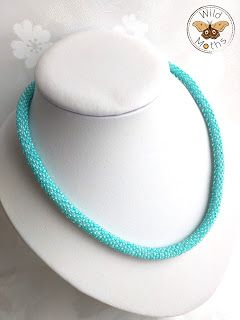 Wildmoths Handcrafted Creations: Turquoise Crochet Necklace