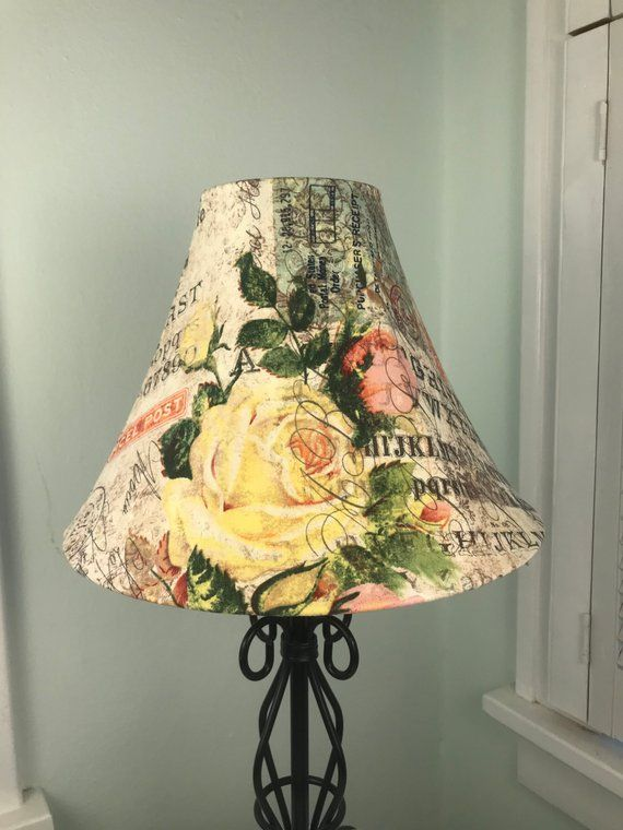Shabby Chic Lamp Shade Rose Postage Stamp