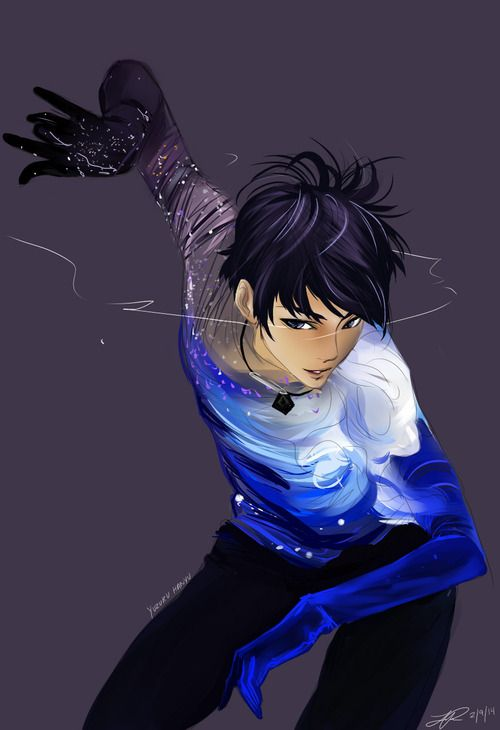 Hanyu Yuzuru, who isn't a character but is a real person, an exquisite figure skater